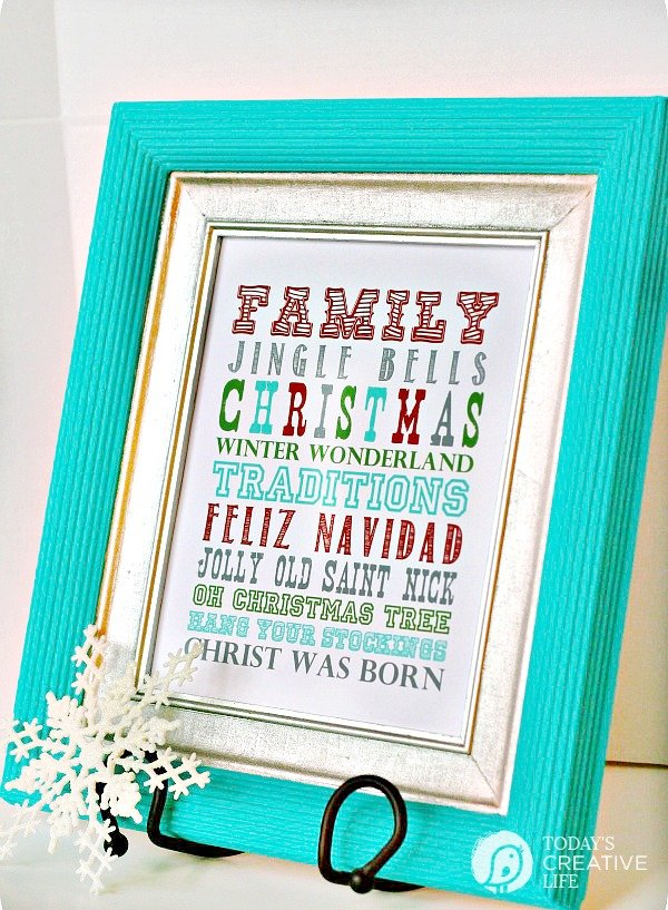 Printable Christmas Subway Art Wall Art | TodaysCreativeLIfe.com