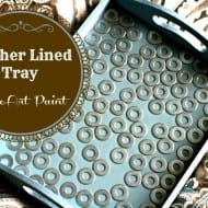 DecoArt ~ Washer Lined Painted Tray