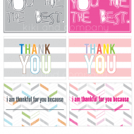Send a Thank you Card – Free Printable