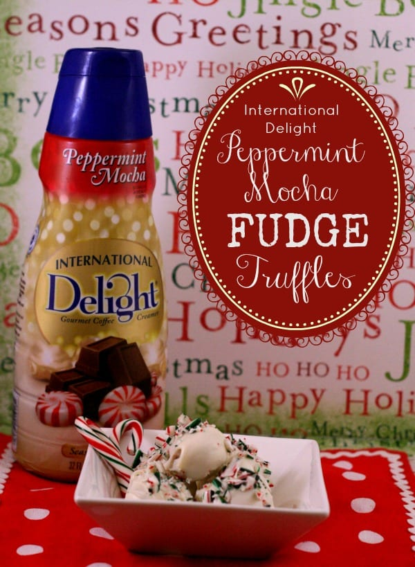 Peppermint Mocha Fudge Truffles