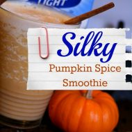 Pumpkin Spice Smoothie Recipe made with Soy Milk - TodaysCreativelife.com
