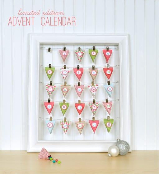 Silhouette advent calendar