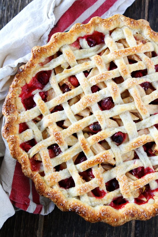 Apple Cranberry Pie by Two Peas and their Pod