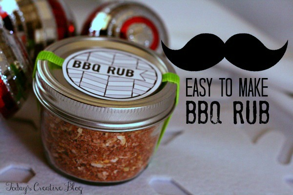 Last Minute Gift Ideas | BBQ Rub recipe | TodaysCreativeBlog.net