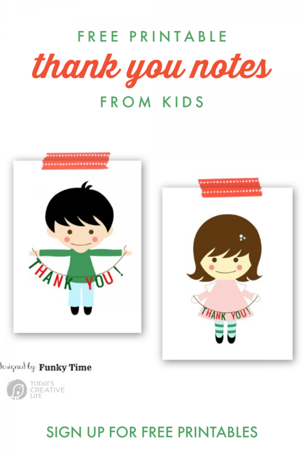 BOY AND GIRL THANK YOU NOTES
