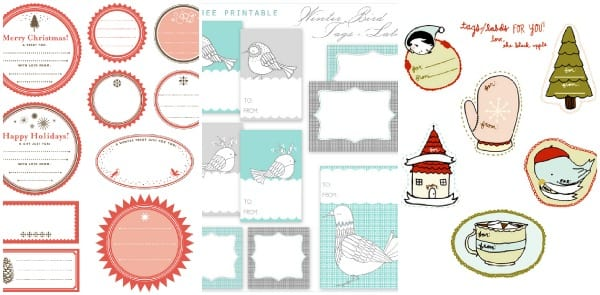 printble holiday gift tags