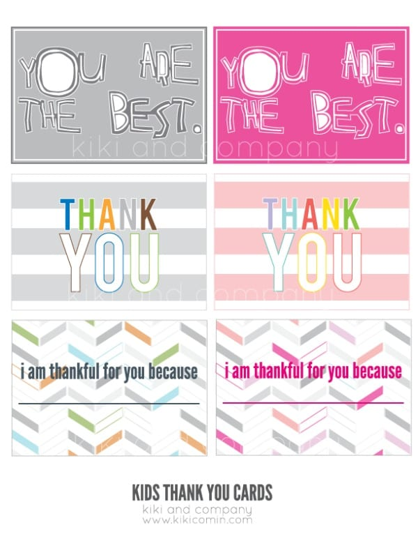 This is a graphic of Dynamic Printable Thank You Cards for Kids