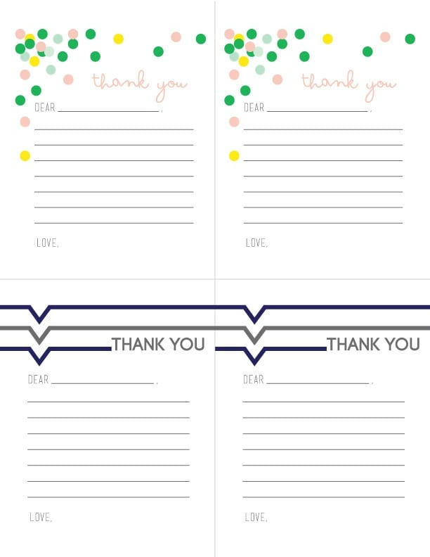 Printable Thank you Notes for Children – Printable Thank You Note