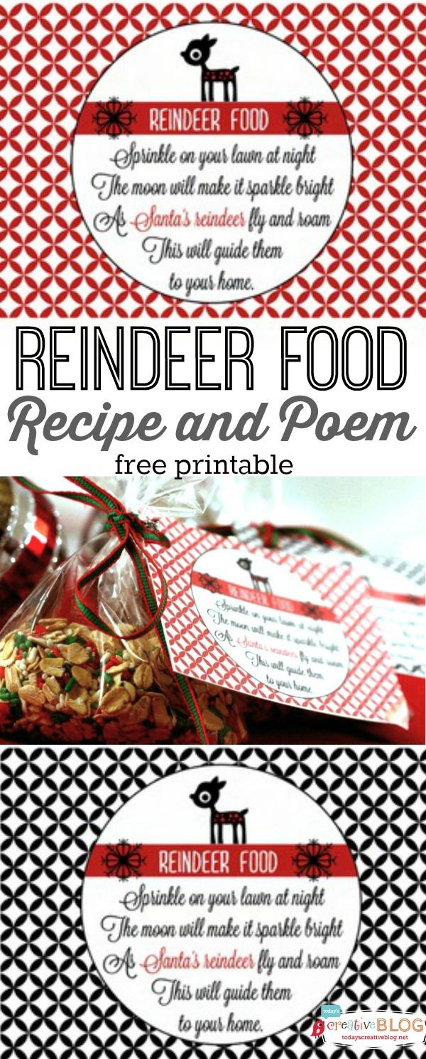 Reindeer Food Recipe and Poem