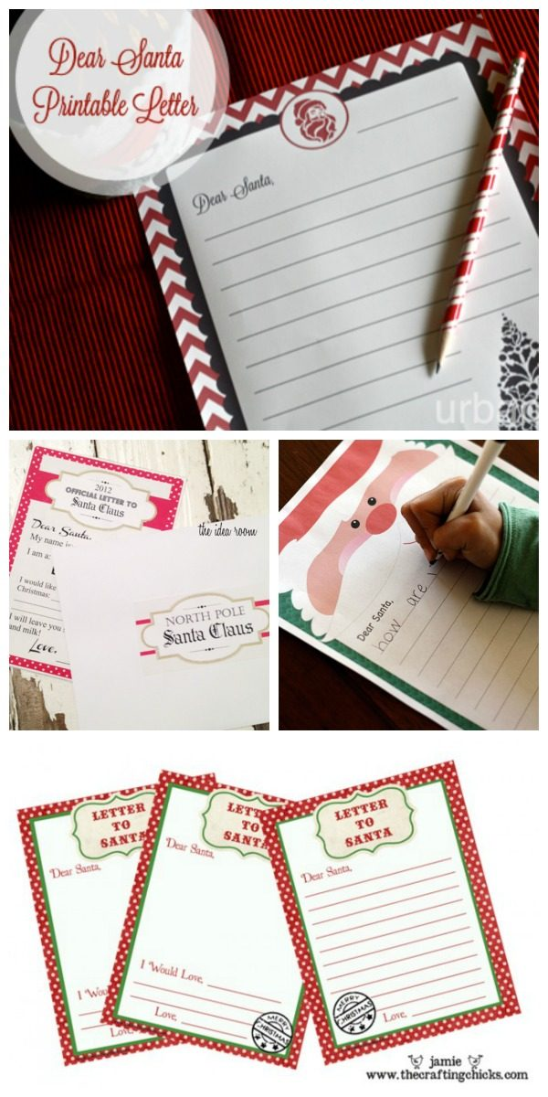 Letter to Santa | Printable Letters to Santa | Write a letter to santa free printables | TodaysCreativeLIfe.com