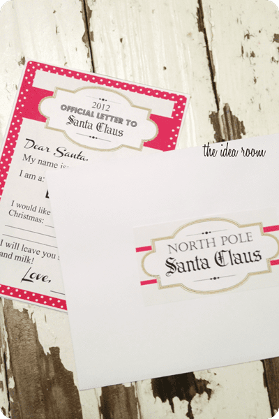 printable Santa letter