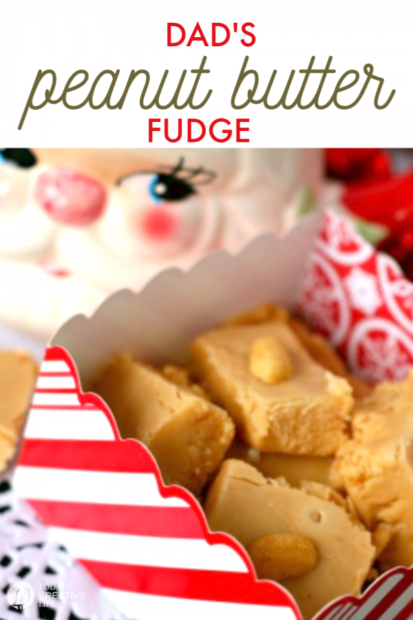 peanut butter fudge in a box