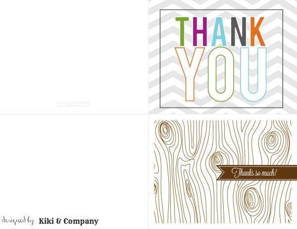 Amazing image in printable thank you notes
