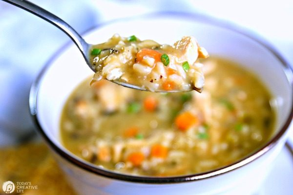 Chicken and Rice Soup Recipe | TodaysCreativeLife.com