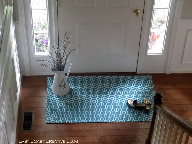 Make your own floor mat