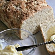 English Muffin Bread Recipe | Rapid Rise Yeast | TodaysCreativeLife.com