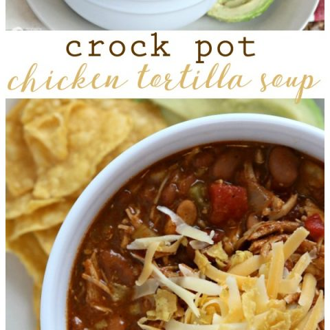 Crockpot Chicken Tortilla Soup | Slow Cooker soups are a family friendly dinner idea anytime of year! Get the recipe on TodaysCreativeLife.com