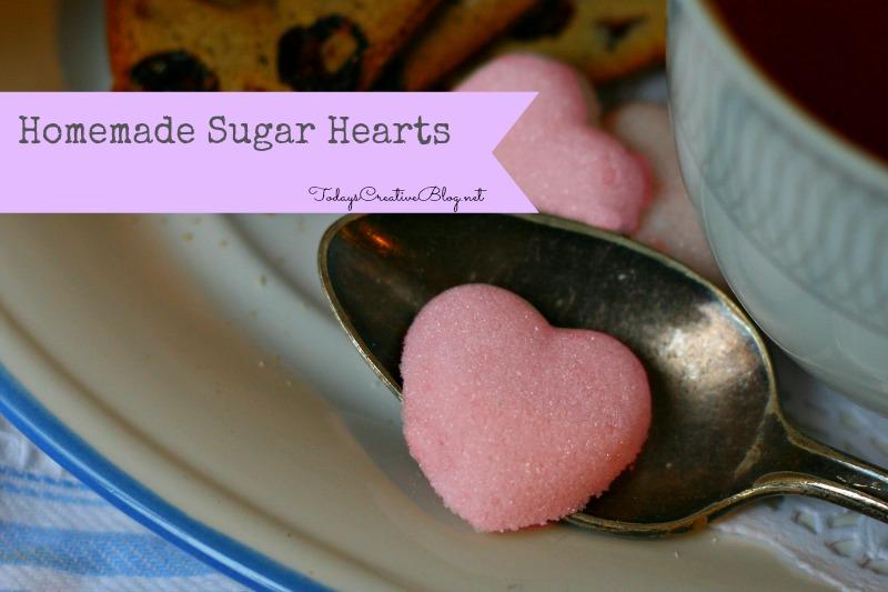 homemade sugar cubes- sugar hearts