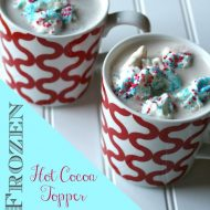 Frozen Whipped Cream Dollops for Hot Chocolate