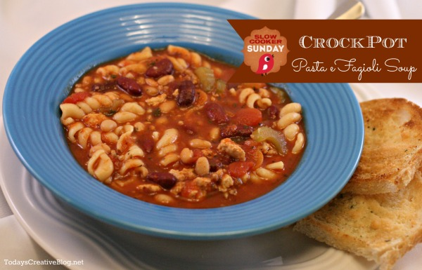 Crockpot Pasta e Fagioli Soup - Today's Creative Blog