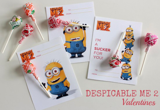 despicable me printable valentine