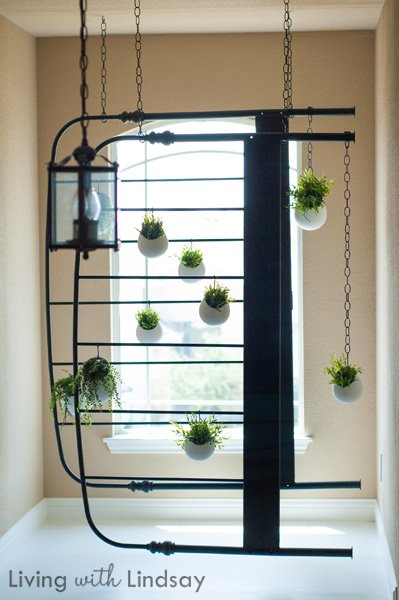 Creative Decorating - Hanging bed frame