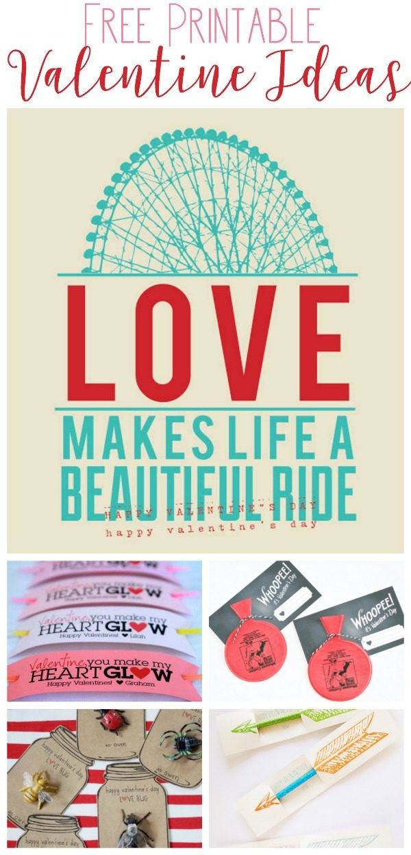 Printable Valentine Ideas   Find many free Valentine's Day Printables for friends, the classroom or anyone! Non-candy Valentine ideas. TodaysCreativeLife.com