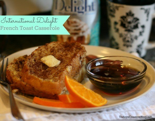 Coffee Creamer French Toast Casserole | See the recipe on Today's Creative Life