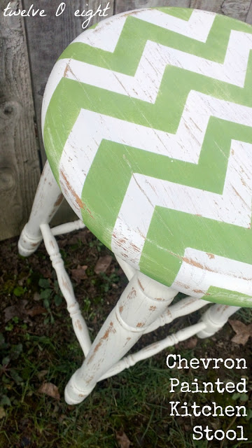 Chevron painted Furniture