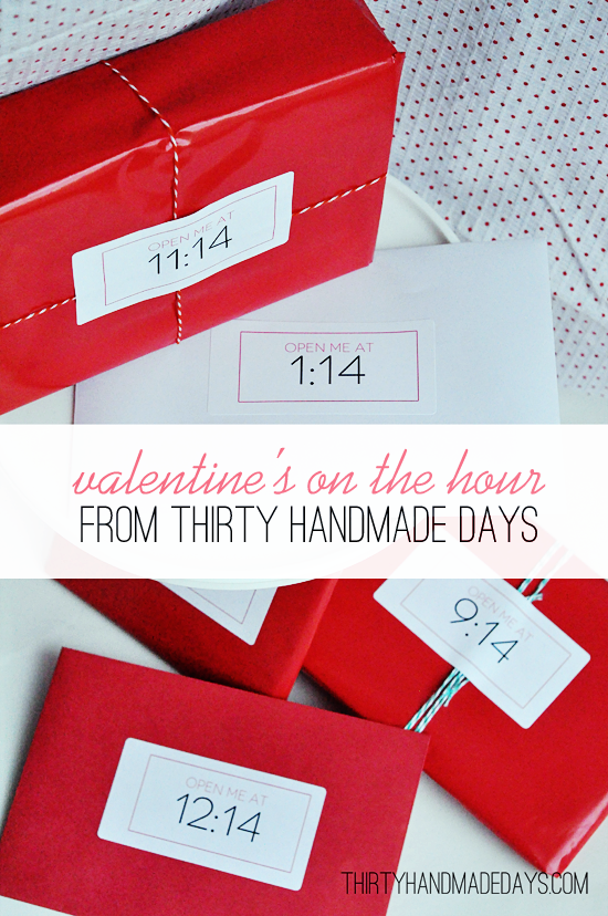 Valentines by the hour from 30 Handmade Days