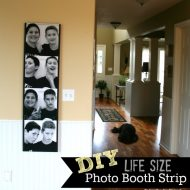 DIY Life Size Photo Booth photo strip - Today's Creative blog