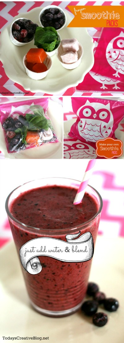 Frozen Smoothie Packs | TodaysCreativeBlog.net