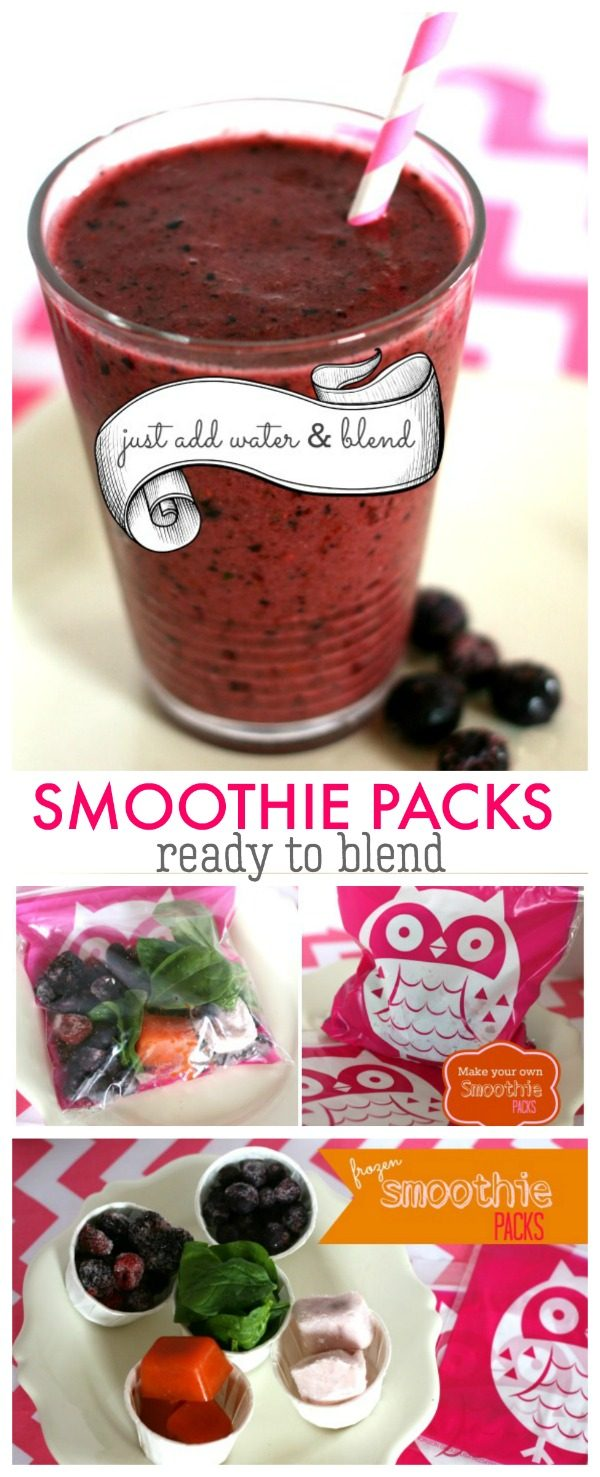 Ready to Blend Frozen Smoothie Packs | DIY Smoothie Kit | Freeze juices, fruits, veggies ready to blend! TodaysCreativeLife.com