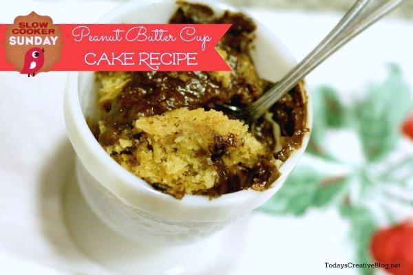 crockpot dessert recipe peanut butter cup cake