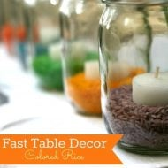 Colored Rice Easter Table Decor