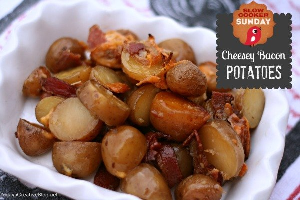 Crockpot Cheese bacon potatoes