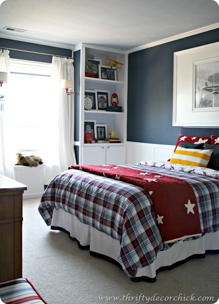 big boy Bedroom ideas- Thrifty Decor Chick