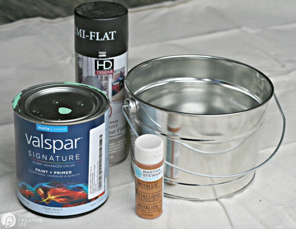 Aged Metal Paint Finish | Supplies Needed | TodaysCreativeLife.com