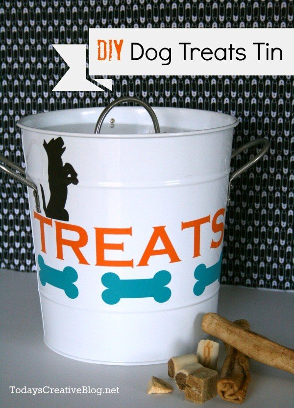 Dog Treat Tin DIY | TodaysCreativeBlog.net