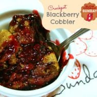 Crockpot Blackberry Cobbler – Slow Cooker Sunday