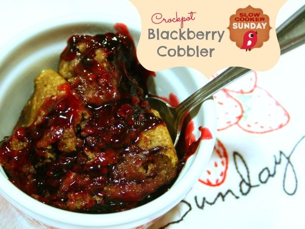 crockpot blackberry cobbler
