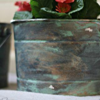 How to Paint a Patina Finish | TodaysCreativeLife.com
