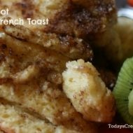 Crock Pot French Toast Recipe on TodaysCreativeLife.com
