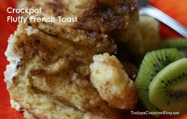 Crockpot Fluffy French Toast! See the recipe on Today's Creative Life
