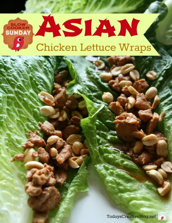 Crockpot Asian Chicken Lettuce Wraps | Find more Slow Cooker Sunday Recipes on TodaysCreativeBlog.net