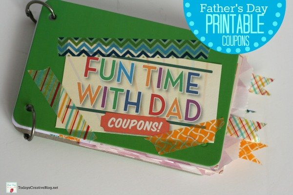 Father's Day Printable Coupons | Printables for Dad's Day. Make this Father's Day printable coupon craft to create a homemade or kid made Dad's Day gift. Get the coupons on TodaysCreativeLife.com