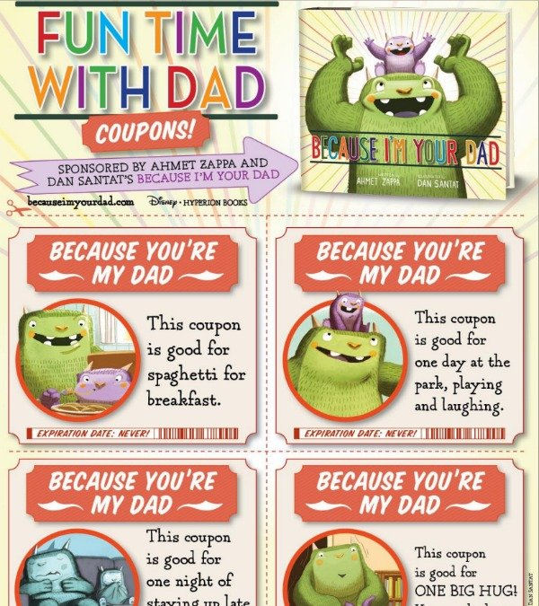 Father's Day Printable Coupons - Today's Creative Life
