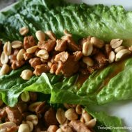 Crockpot Asian Chicken Lettuce Wraps