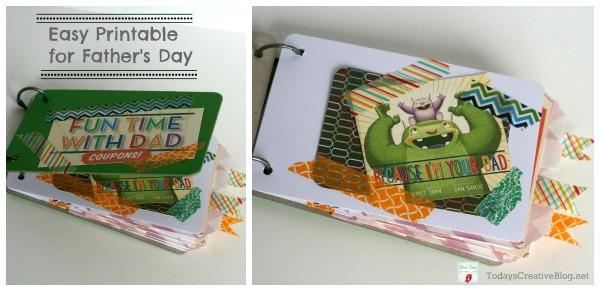 Father's Day Printable | Make a coupon book gift! TodaysCreativeLife.com