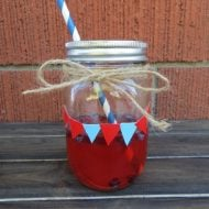 Duct Tape Decorated Mason Jars
